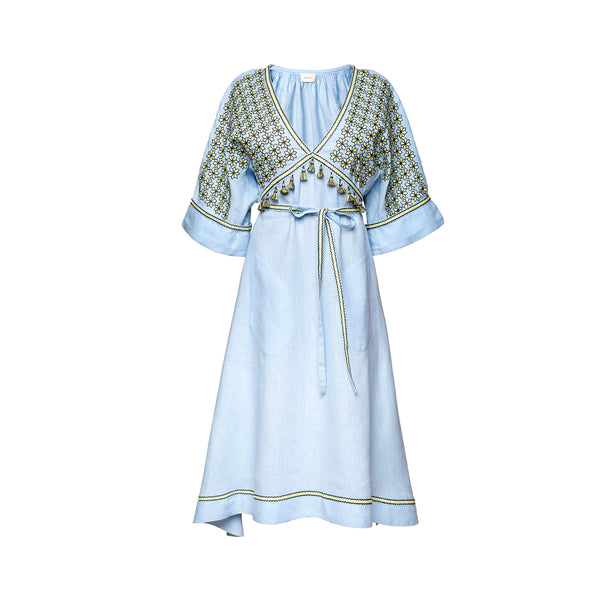 Greece Midi Dresses in Light Blue