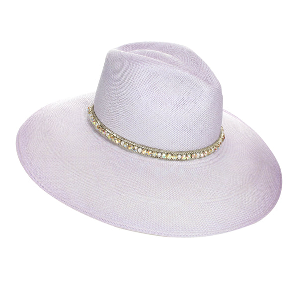 The ANDRIA Pearl Embroidered Panama Hat