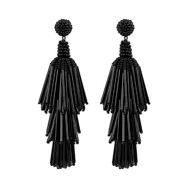 Deepa by Deepa Gurnani Handmade Black Rain Earrings