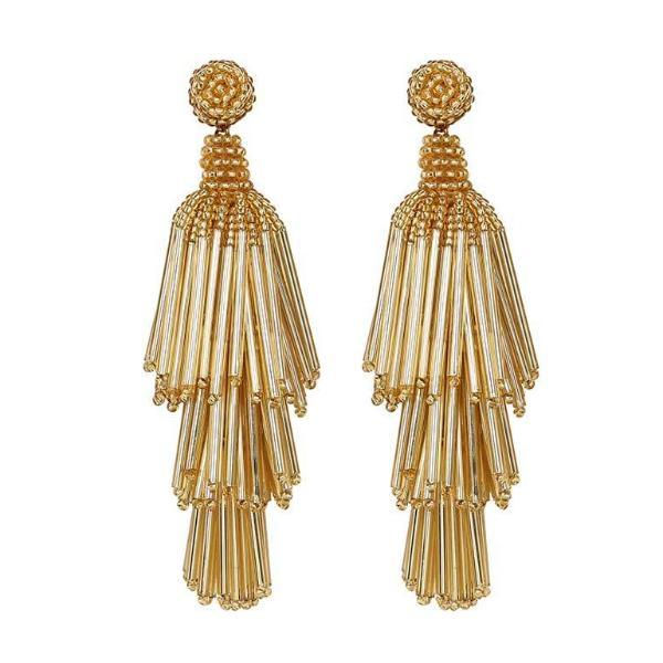 Deepa by Deepa Gurnani Handmade Gold Color Rain Earrings