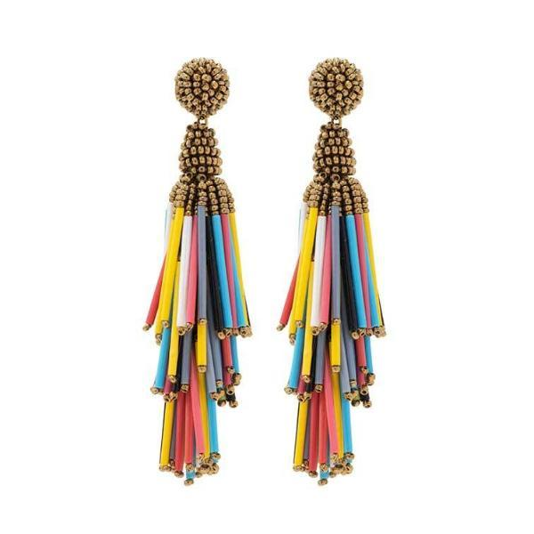 Deepa by Deepa Gurnani Handmade Multi Color Rain Earrings