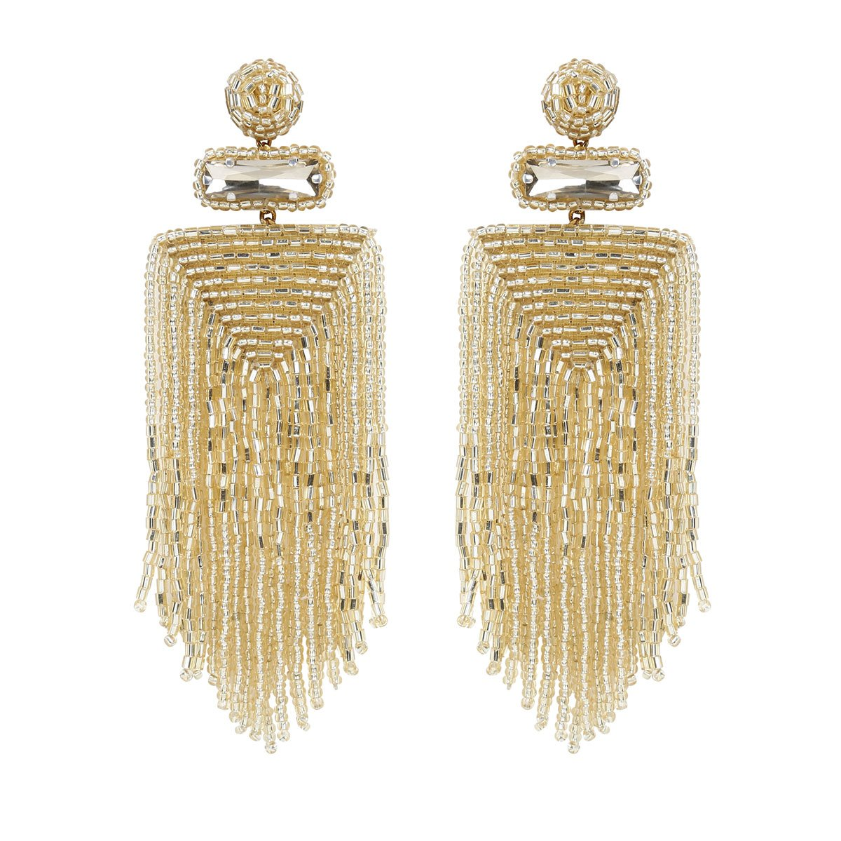 Handmade Embroidered Deepa by Deepa Gurnani Gold Jody Earrings