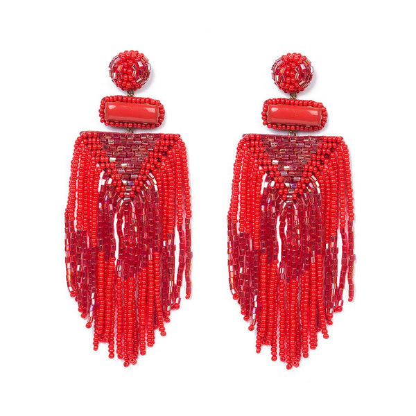 Handmade Embroidered Deepa by Deepa Gurnani Jody Earrings