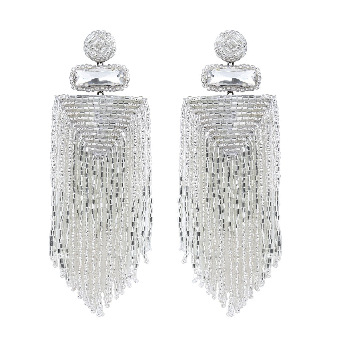 Handmade Embroidered Deepa by Deepa Gurnani Silver Jody Earrings