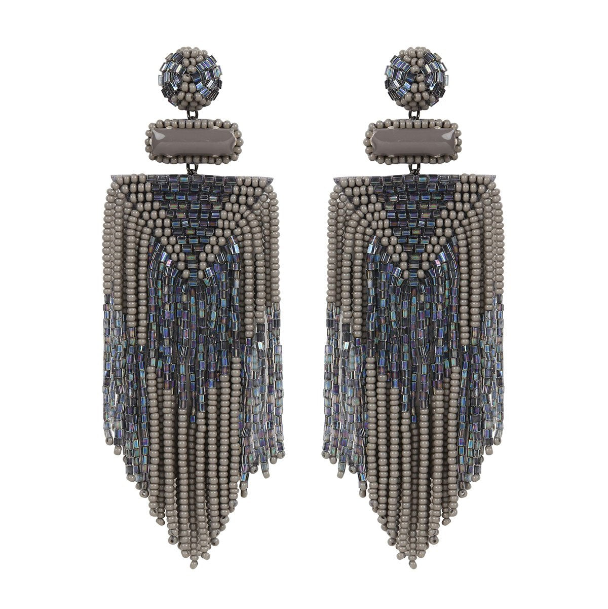 Handmade Embroidered Deepa by Deepa Gurnani Black Jody Earrings