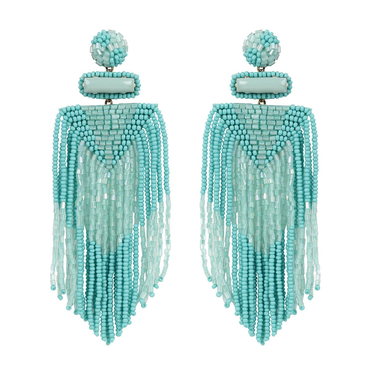 Handmade Embroidered Deepa by Deepa Gurnani Mint Jody Earrings
