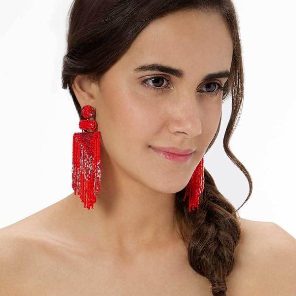 Jody Beaded Fringe Earrings