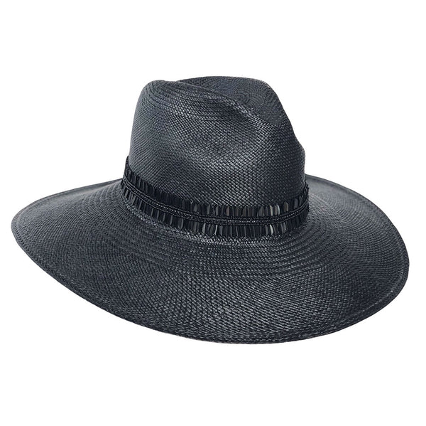 The Crete Black Panama Hat