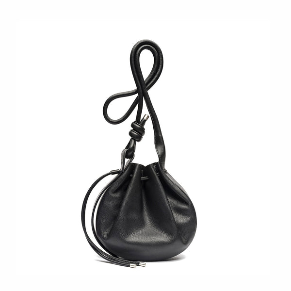 Ina Crossbody Black Leather Bag