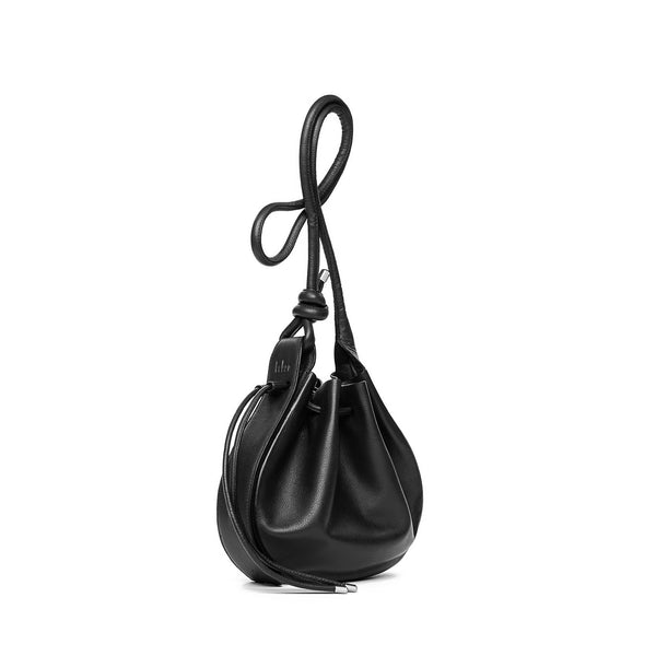 Ina Crossbody Black Canvas Bag