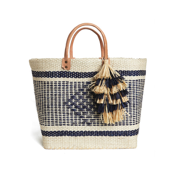 Ibiza Natural Festive Beach Tote