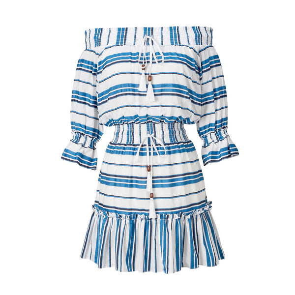 Yumi Blue Striped Dress