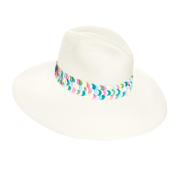 The Aleria Multicolored Panama Hat