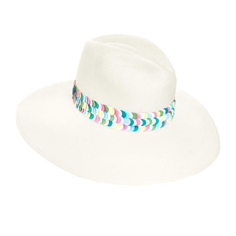 THE ALERIA MULTI COLORED PANAMA HAT