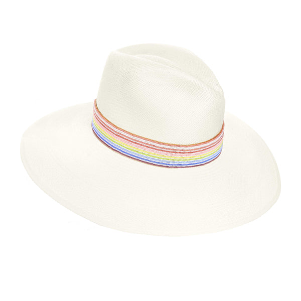 The FIGARI RAINBOW PANAMA HAT