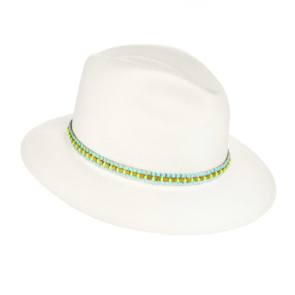 The BONAFACIO Neon Knotted Panama Hat