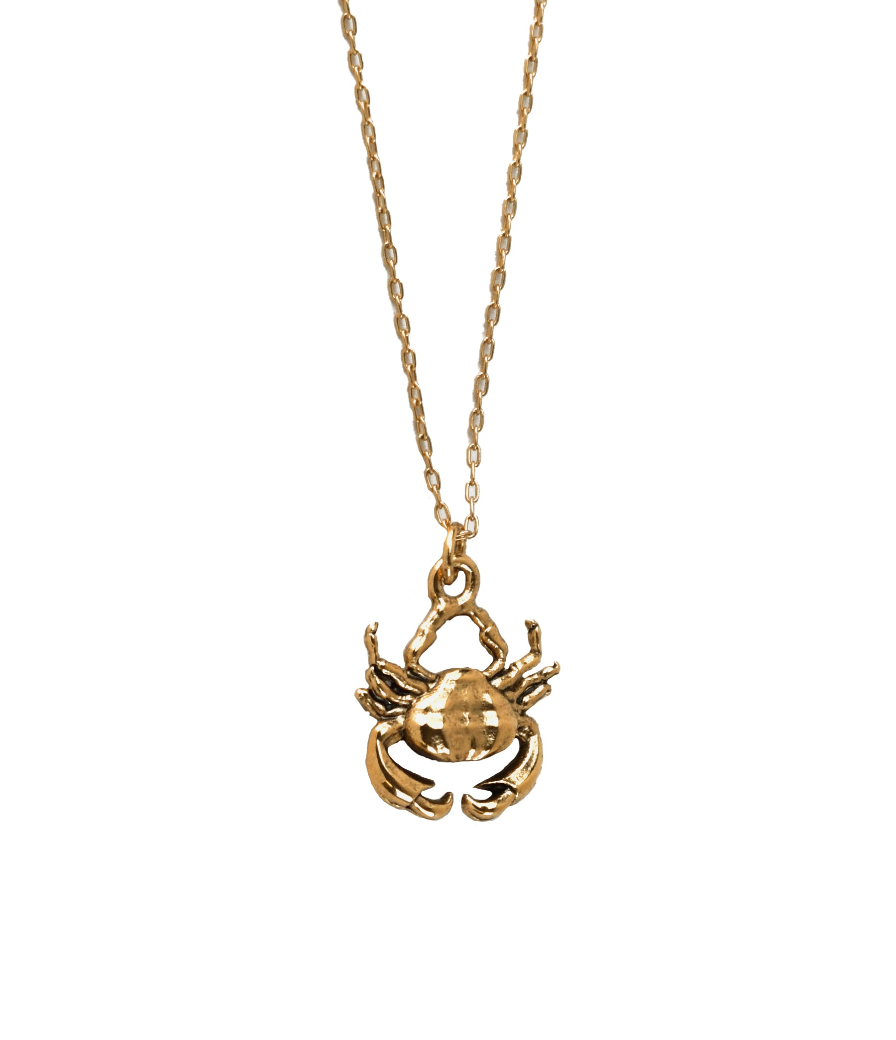 Small Crab Necklace Gold