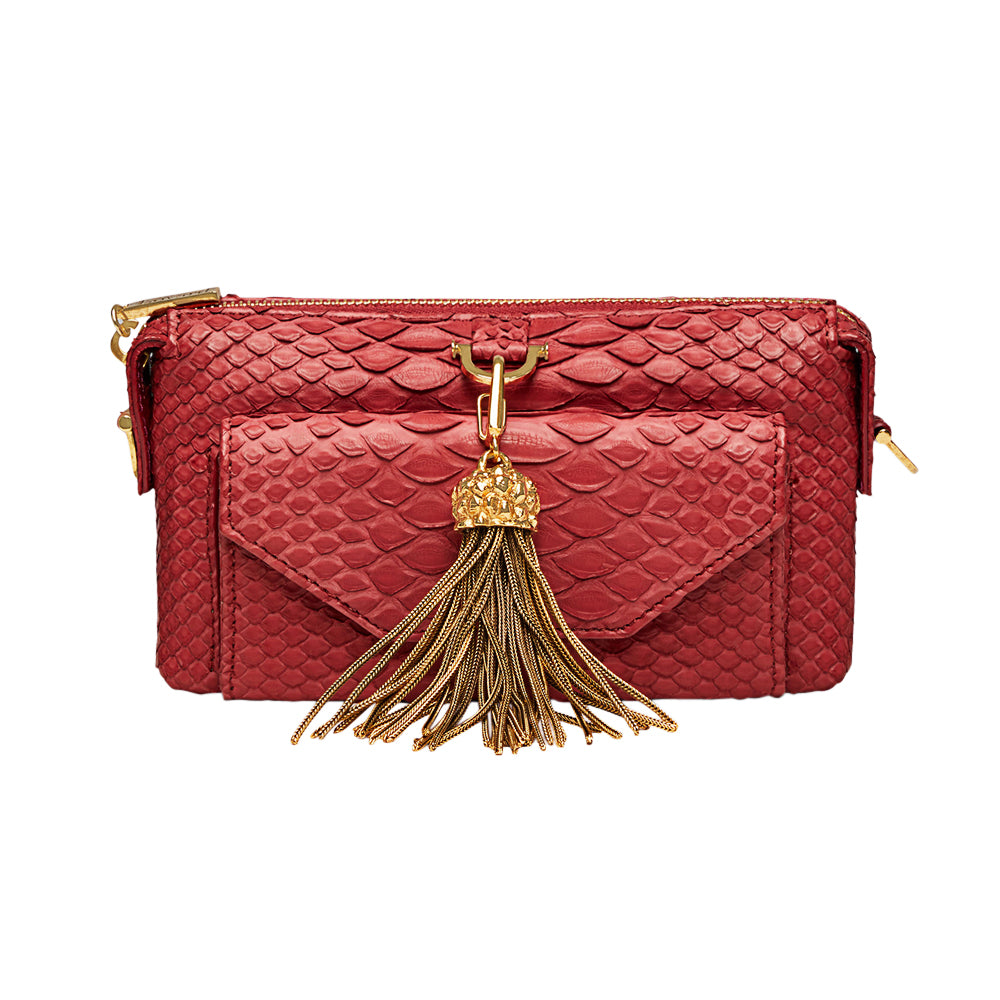 Python Micro Purse Wallet Red