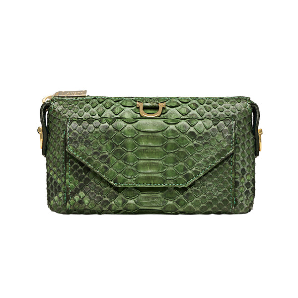 Python Micro Purse Wallet Green