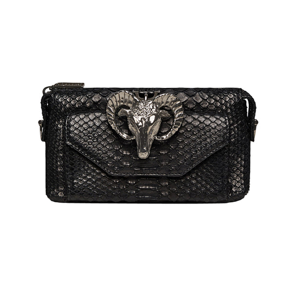 Python Micro Purse Wallet Black