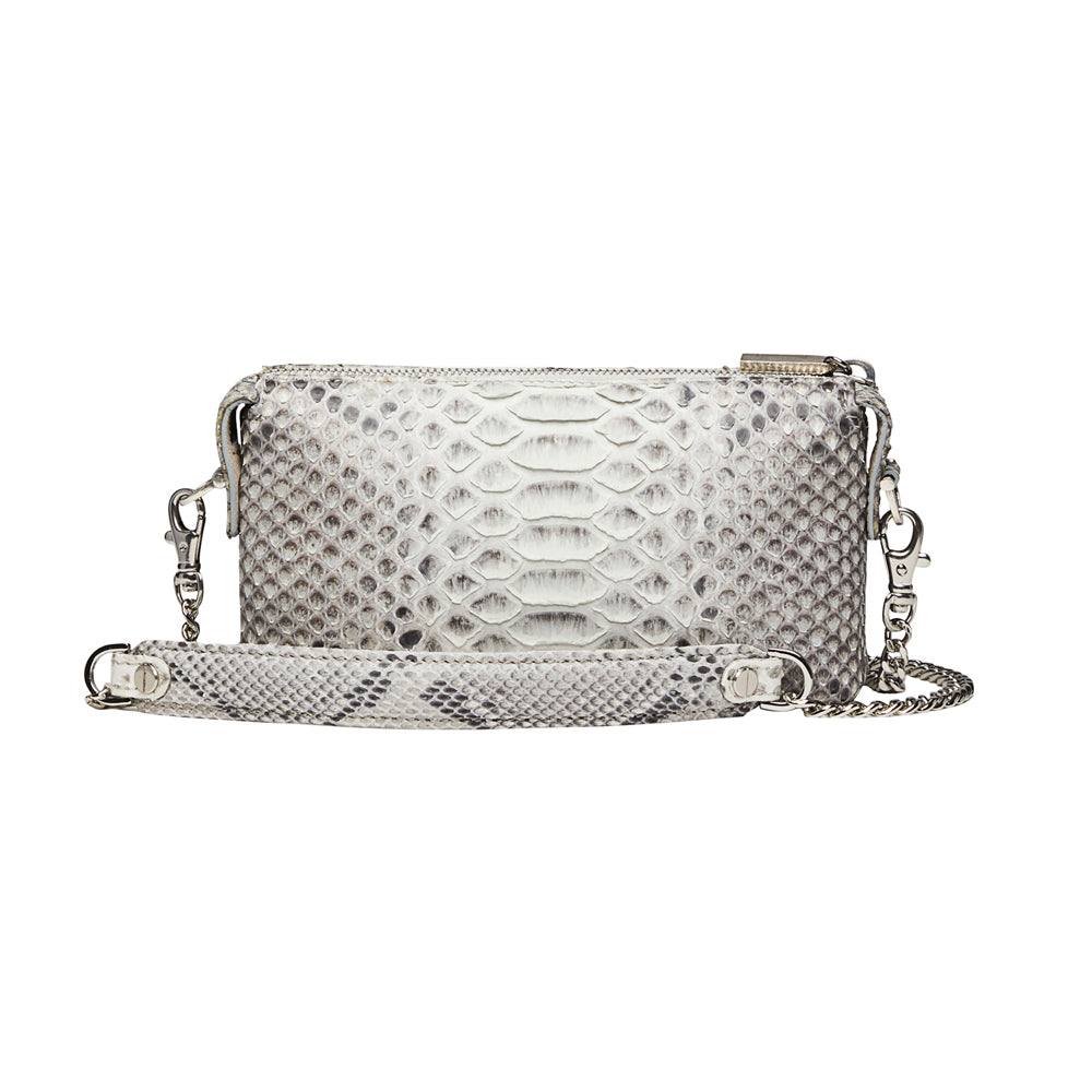 Python Micro Purse Wallet Natural