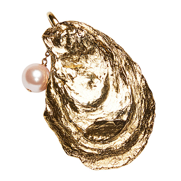 Oyster Clip On Charm Gold
