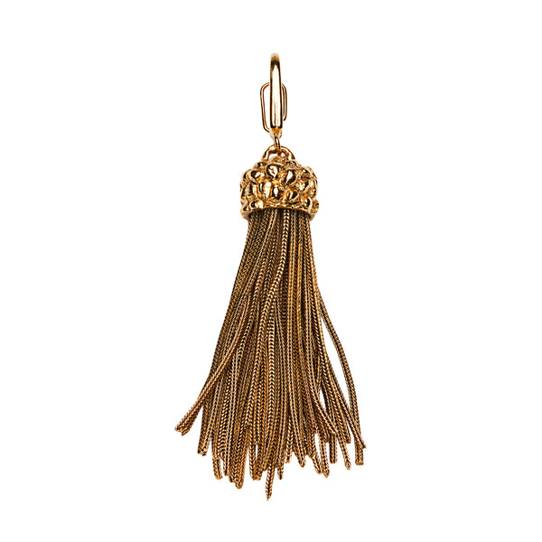 Tassel Clip On Charm Gold
