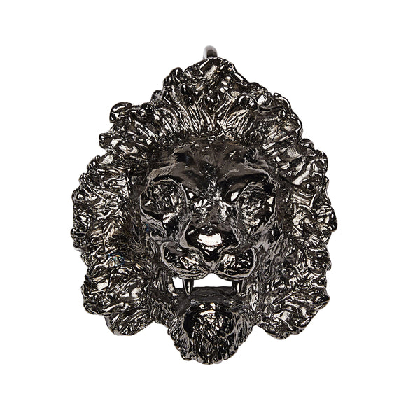 Lion Head Clip On Charm Gold
