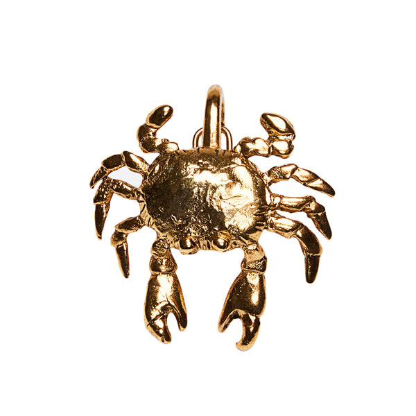 Crab Clip On Charm Gold