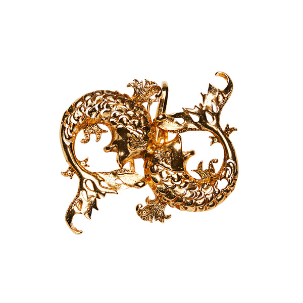 Koi Fish Clip On Charm Gold