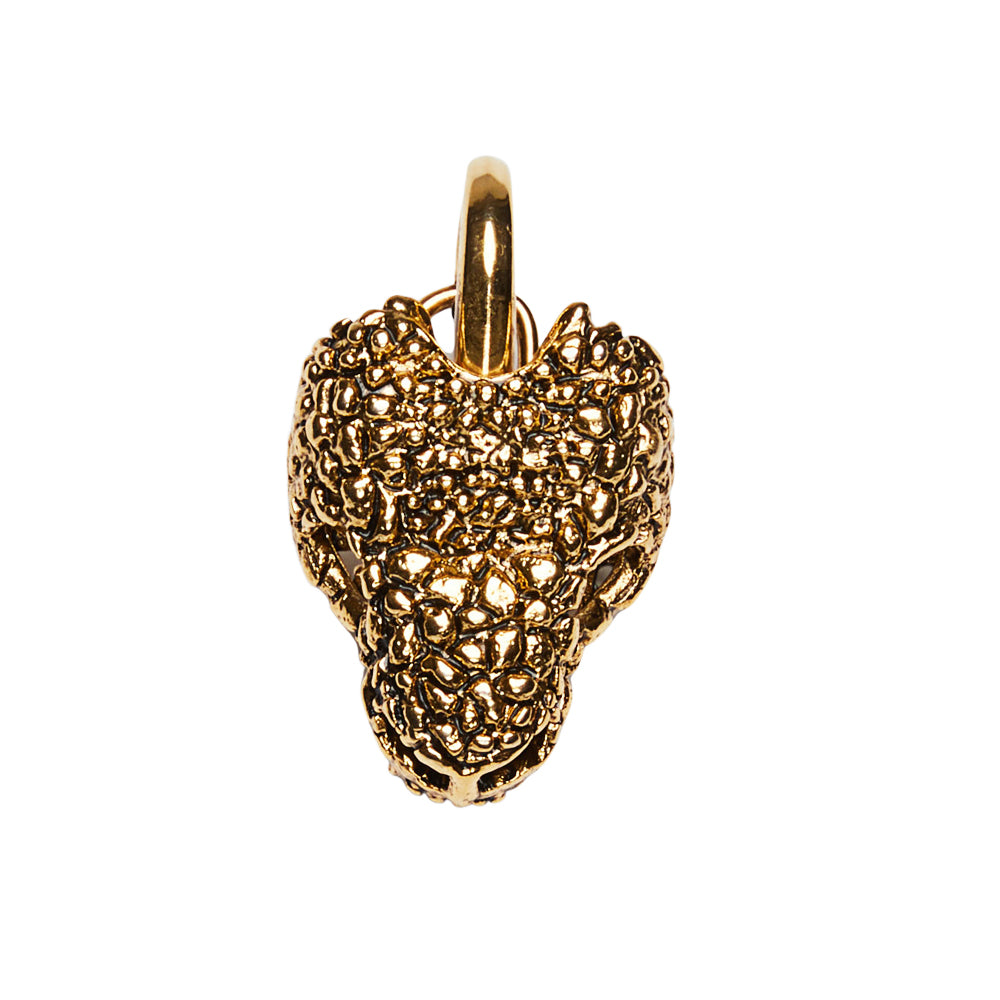 Gila Head Clip On Bag Charm Gold