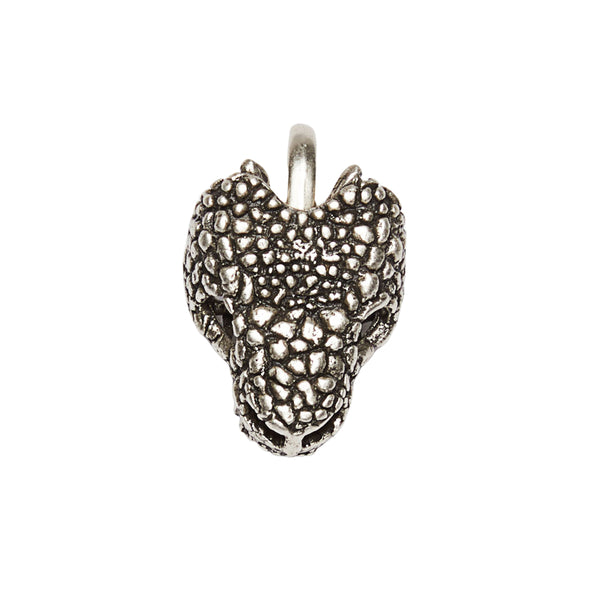Gila Head Clip On Charm Silver