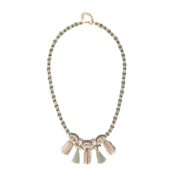 Deepa by Deepa Gurnani Handmade Rachelle Necklace Mint