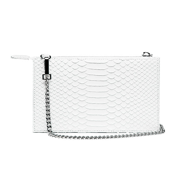 PYTHON PURSE WALLET- WHITE
