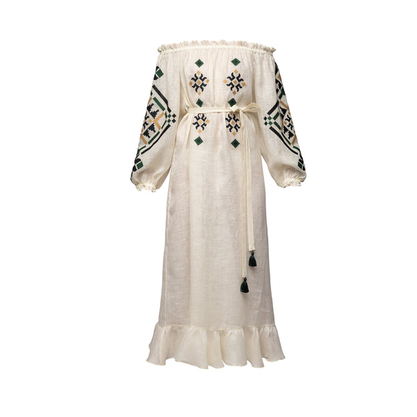 Provence Long Dress in Ivory