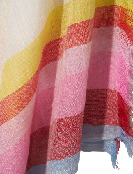 Rainbow Stripe Pareo Wrap