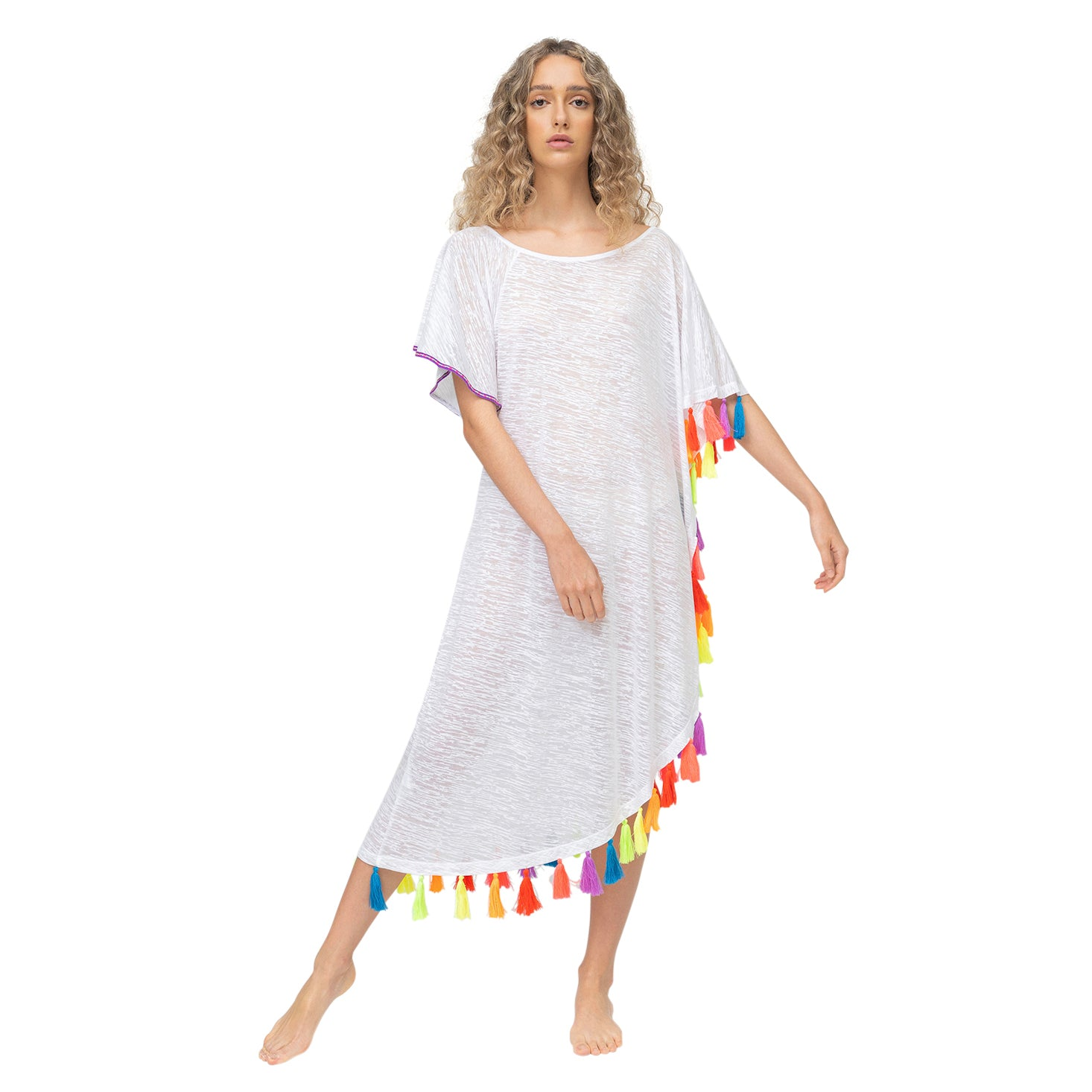 Rainbow Tassel Dress