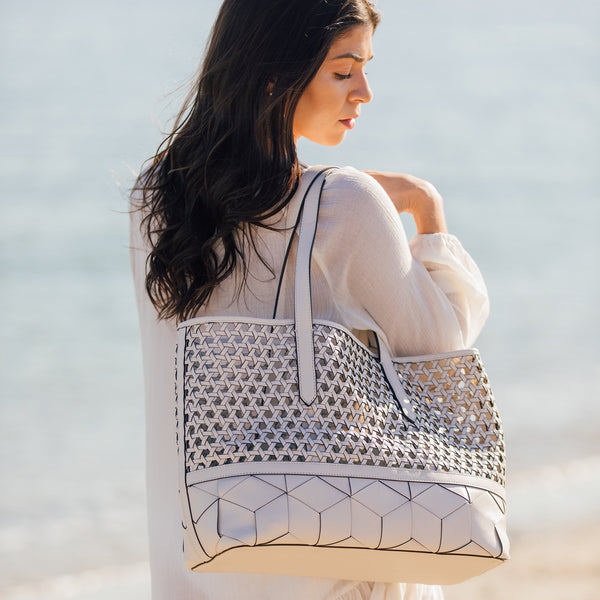 Vita Woven Leather Tote