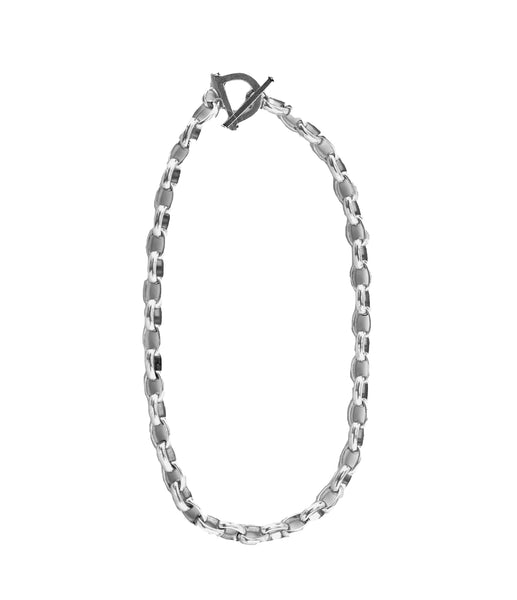 Medium Toggle Chain Necklace Silver
