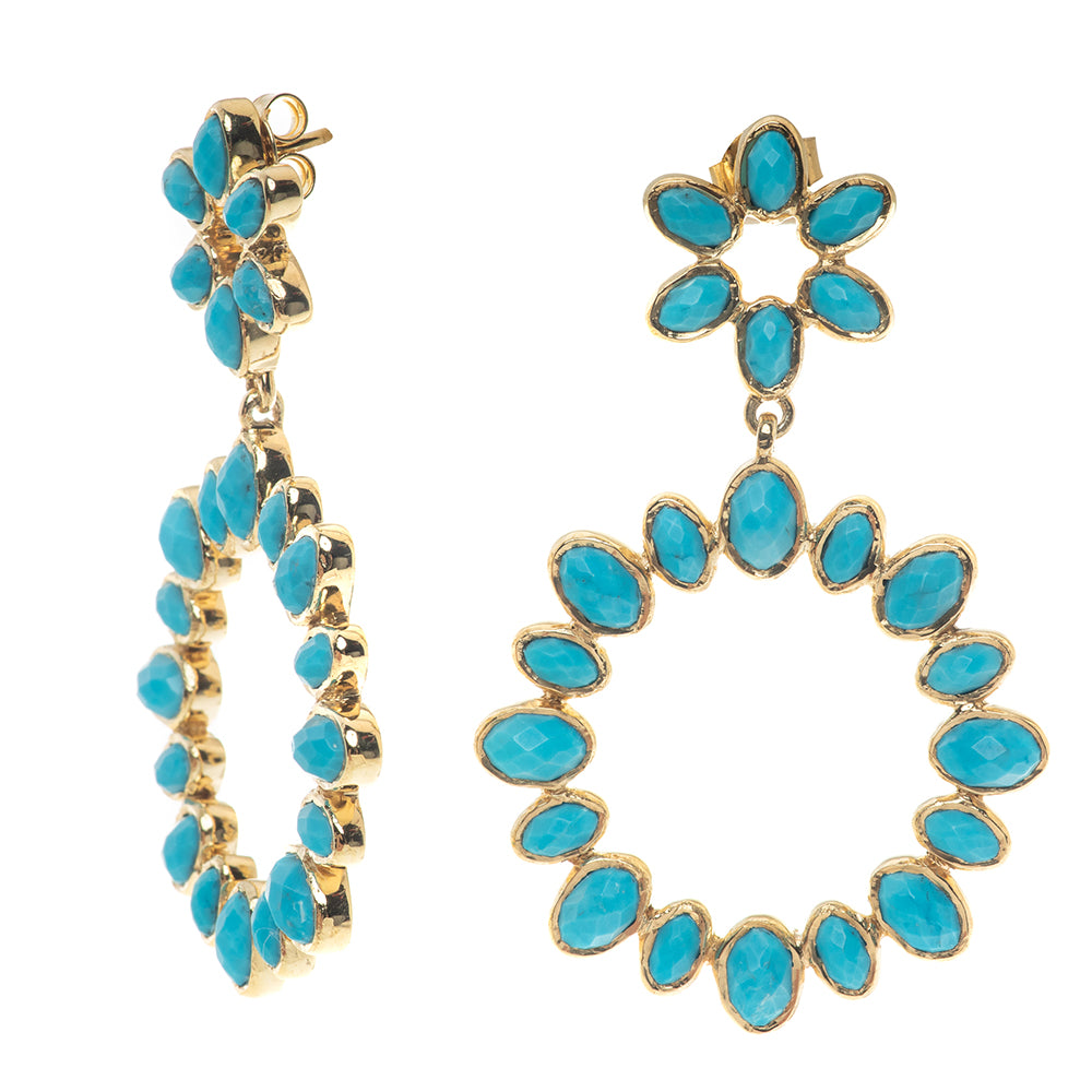 Sicily 18K Turquoise Earrings