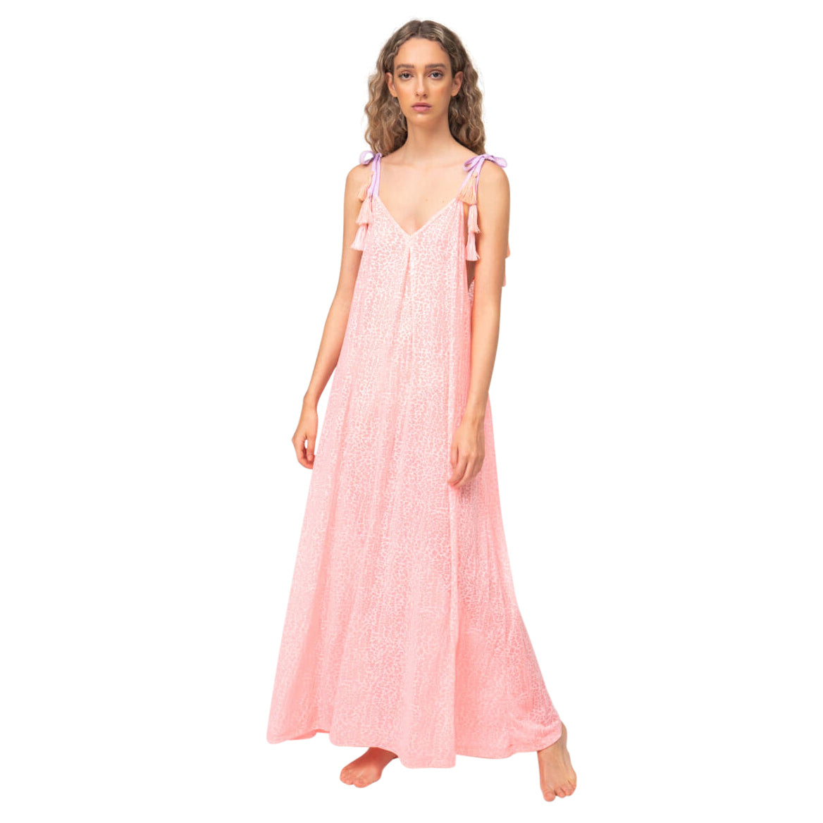 Tassel Tie Maxi Dress
