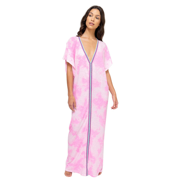 Tie Dye Inca Abaya Maxi Dress