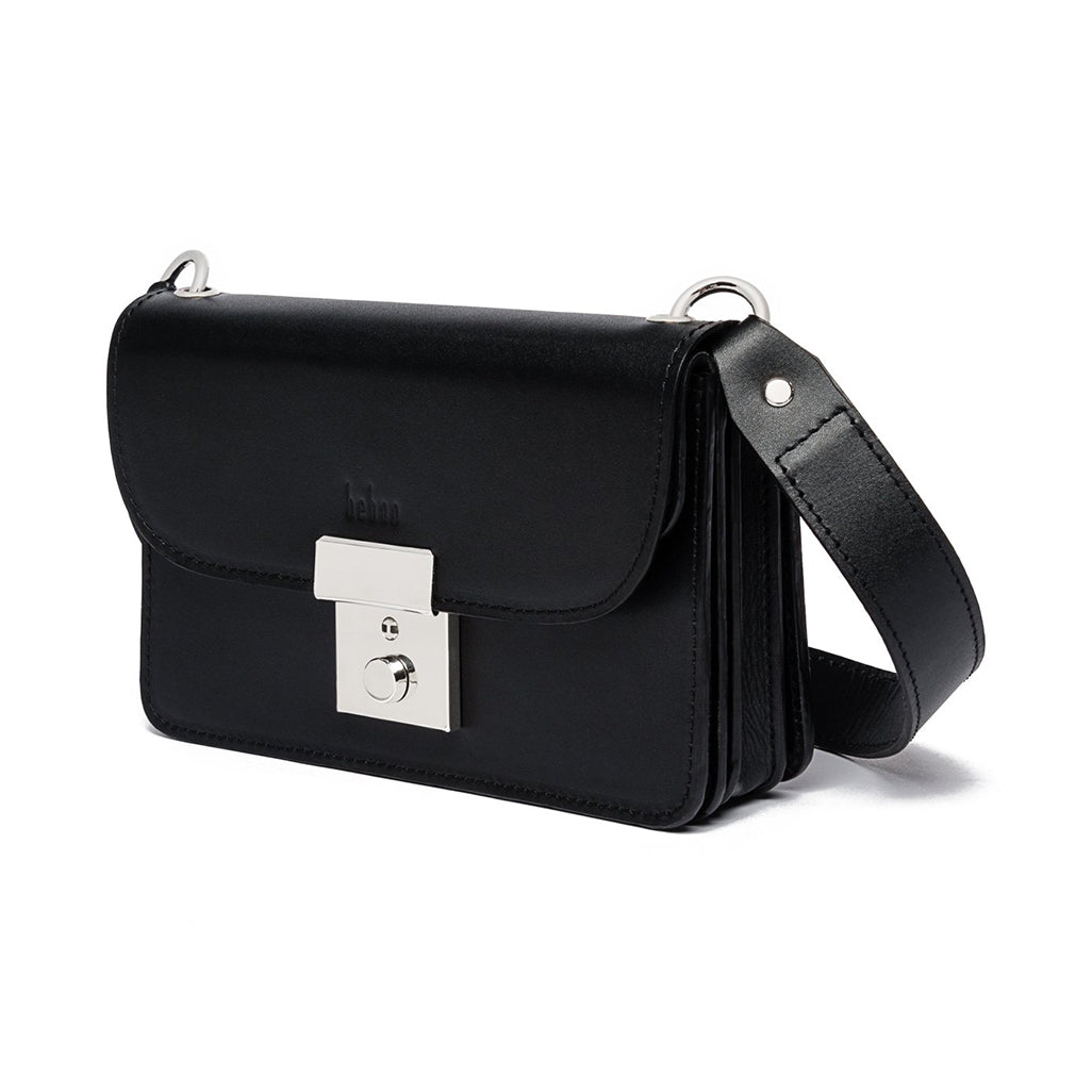 Amanda Black Leather Belt Bag