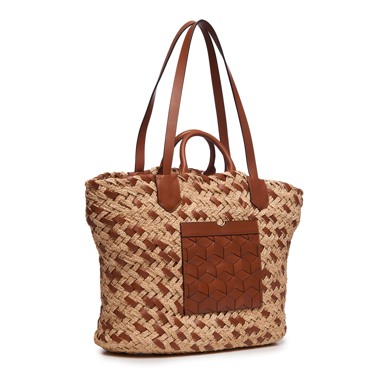 Plage Woven Beach Tote Cafe