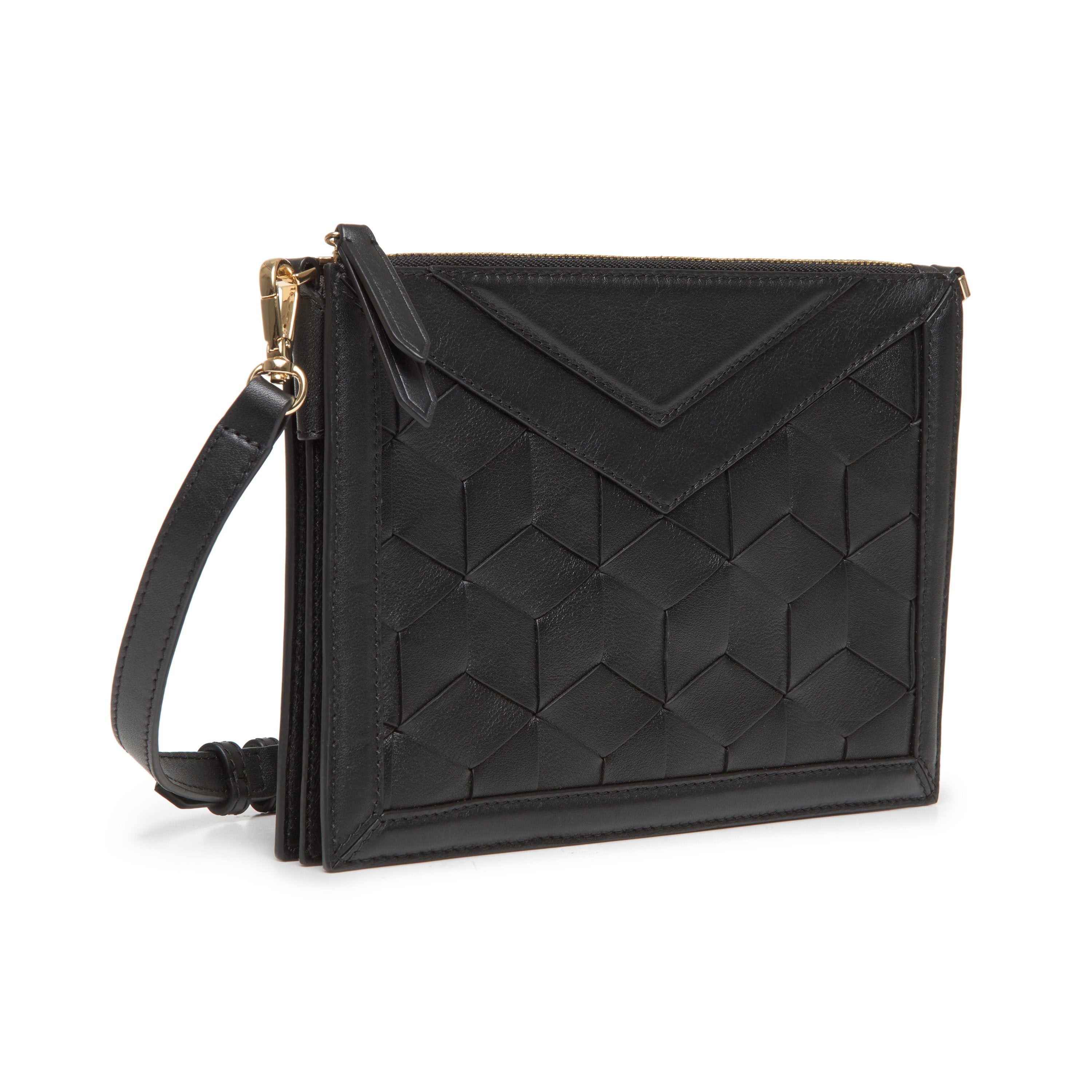 Wander Woven Leather Crossbody Bag