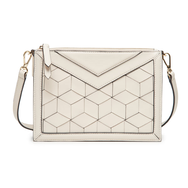 wander crossbody (chalk) - on model clutch
