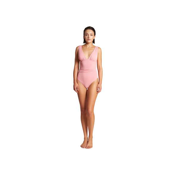Athena Pique One Piece in Rose