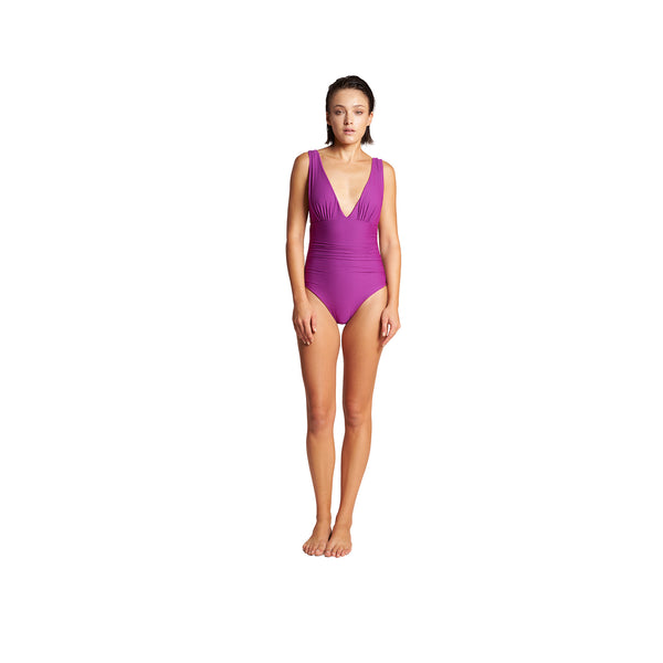 Athena Tricot One Piece in Fuxia