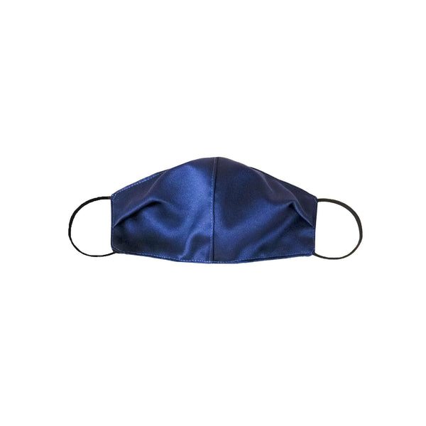 Satin Mask Navy Blue