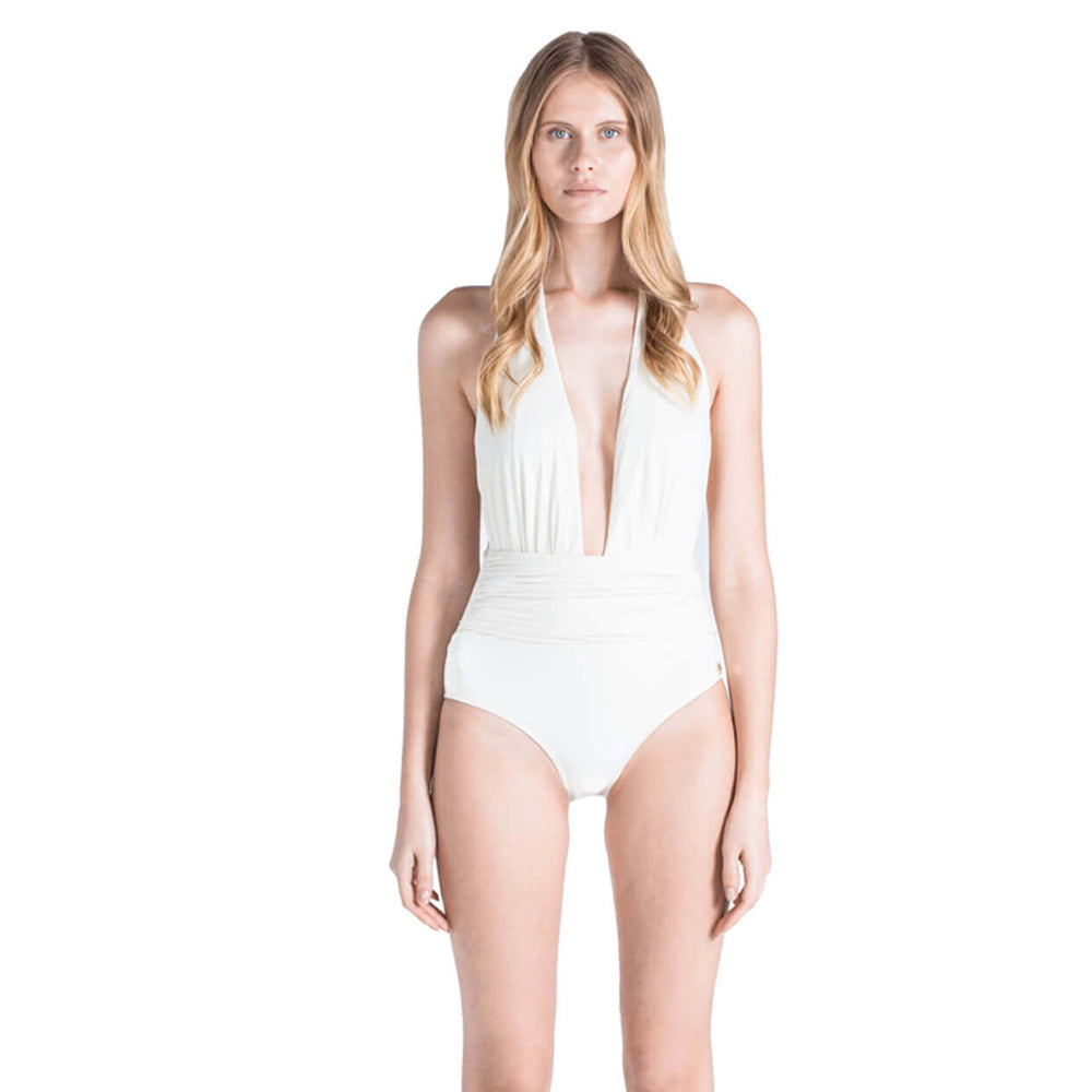 Eva One Piece Swimsuit in Ivory